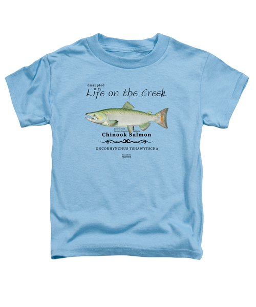 Chinook Salmon Disrupted Toddler T-Shirt