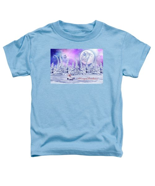 Christmas Card With Ice Skates Toddler T-Shirt