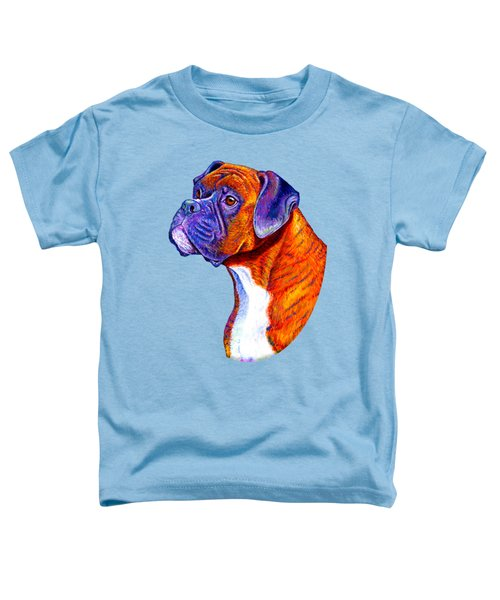 Colorful Brindle Boxer Dog Toddler T-Shirt