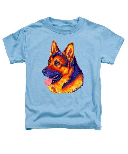 Colorful German Shepherd Dog Toddler T-Shirt
