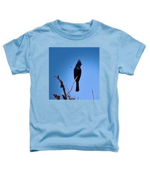 Desert Phainopepla And Dragonfly Toddler T-Shirt