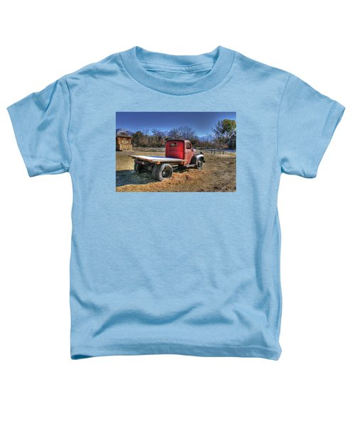Dodge Flat Bed Truck On Farm Toddler T-Shirt