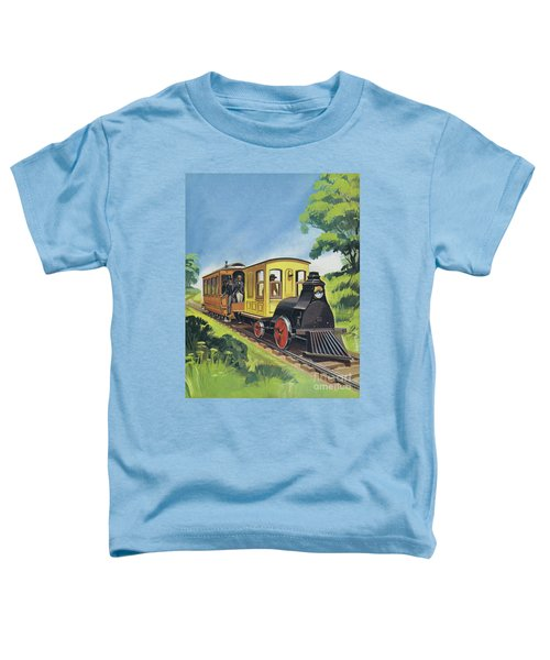 Electric Train Designed By Thomas Edison Toddler T-Shirt