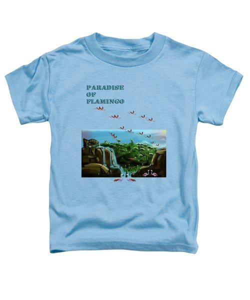 Fish Lake And Flamingo Paradise Toddler T-Shirt