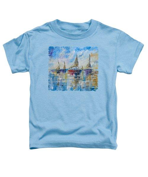 Five Boats Toddler T-Shirt