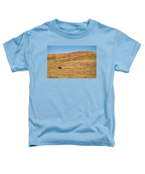 Toddler T-Shirt featuring the photograph Grazing In The Grass by Carl Young