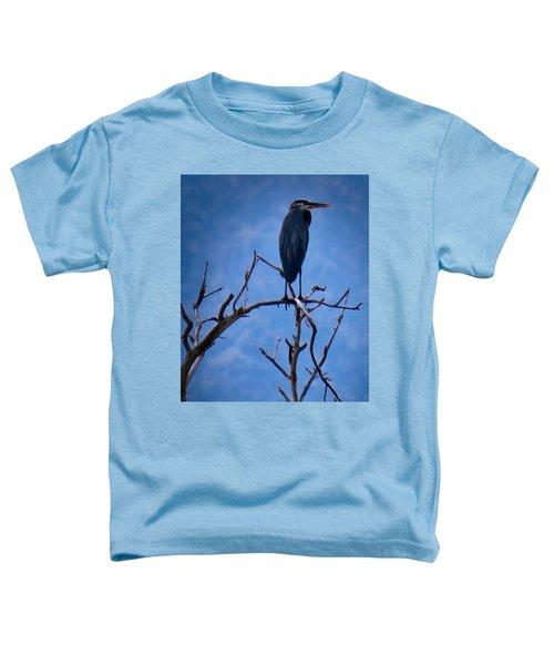 Great Blue Heron 3 Toddler T-Shirt