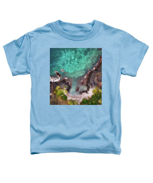 Honokohau Harbor Beach Aerial Toddler T-Shirt