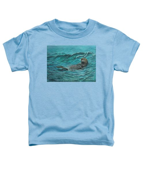 It's My Otter Day Off.....sea Otter Toddler T-Shirt