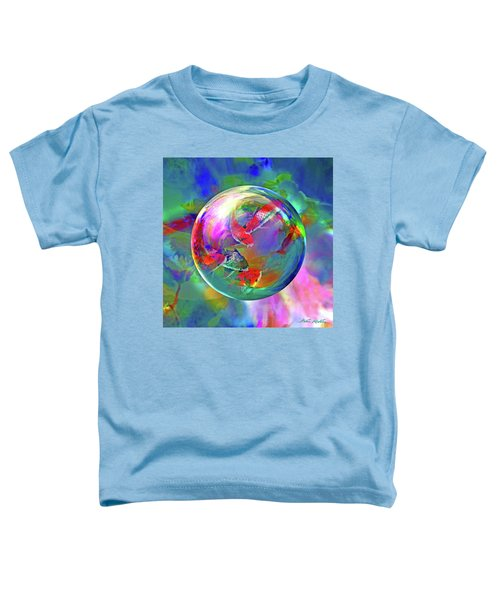 Koi Pond In The Round Toddler T-Shirt