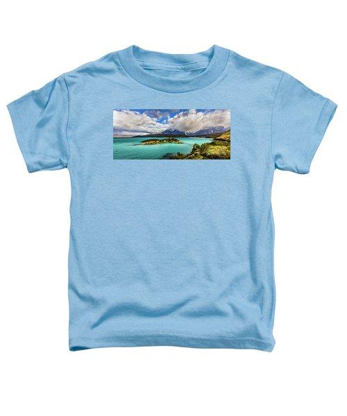 Lago Pehoe, Chile Toddler T-Shirt