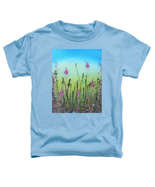 Lilacs And Bluebells Toddler T-Shirt