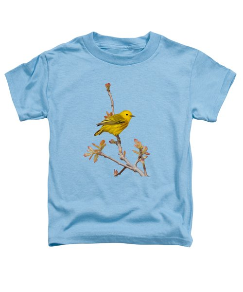 Male Yellow Warbler In Spring Toddler T-Shirt