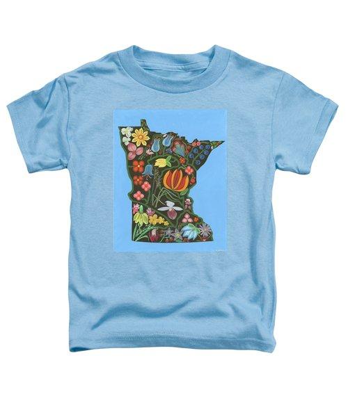 Minnesota Floral Toddler T-Shirt