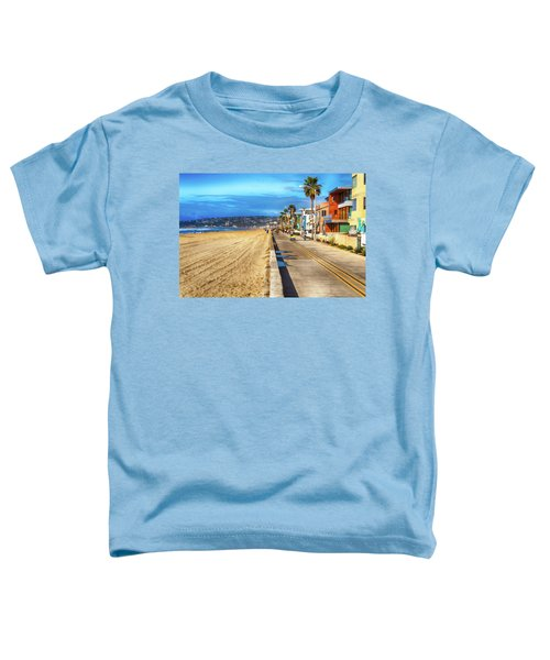 Toddler T-Shirt featuring the photograph Mission Beach Boardwalk by Alison Frank