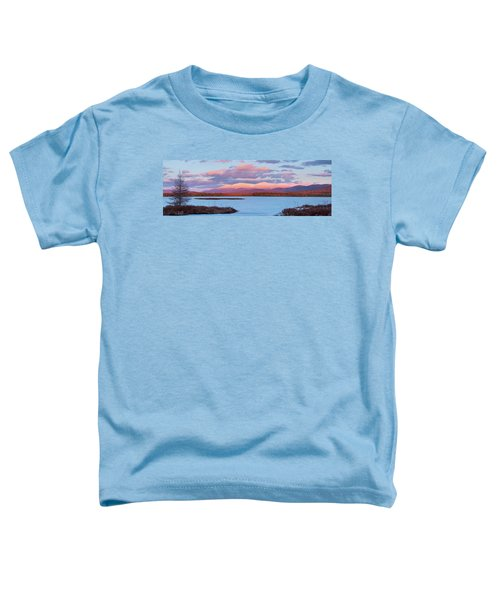 Mountain Views Over Cherry Pond Toddler T-Shirt
