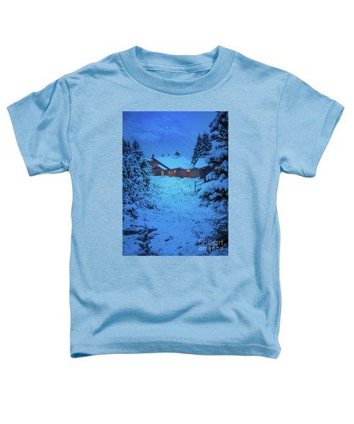 Mt Assiniboine Lodge At  Night Toddler T-Shirt