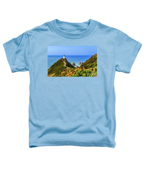 Nugget Point Lighthouse, New Zealand Toddler T-Shirt
