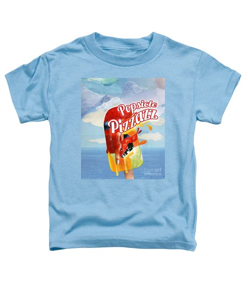 Popsicle Pizzazz - Mixed Media Paper Collage Toddler T-Shirt