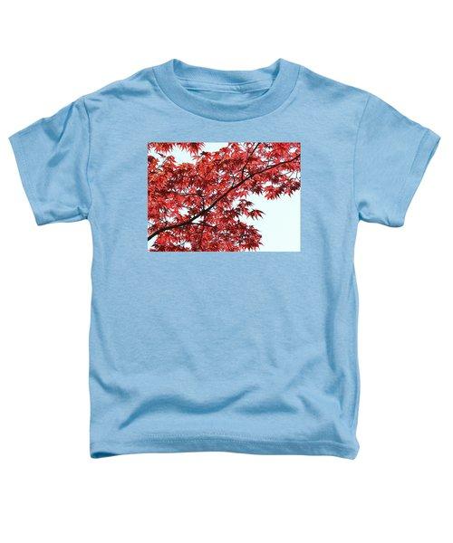 Red Japanese Maple Leaves Toddler T-Shirt