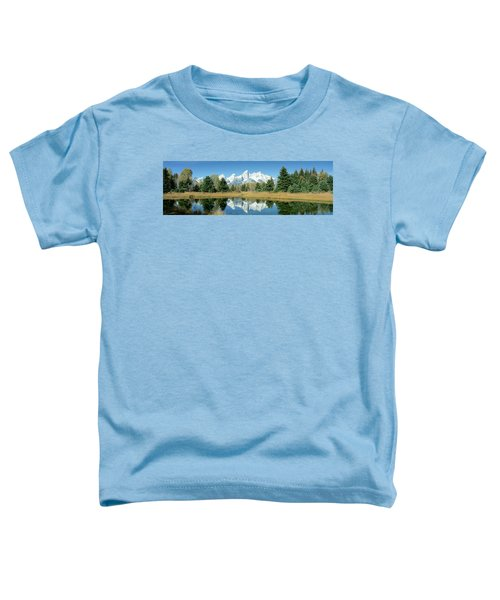 Reflection Of Mountains In Water, Grand Toddler T-Shirt