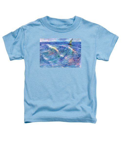 Sailboat In The Sea Toddler T-Shirt