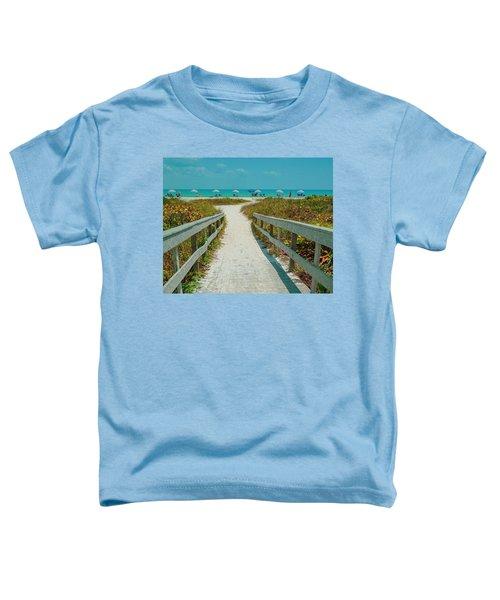 Sanibel Beach Umbrellas Toddler T-Shirt