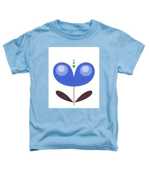 Scandinavian Blue Flower Toddler T-Shirt