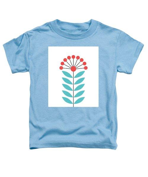 Scandinavian Coral Flower II Toddler T-Shirt