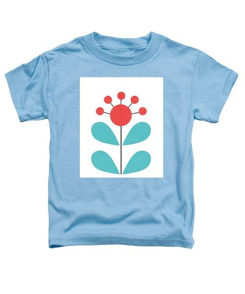 Scandinavian Coral Flower Toddler T-Shirt