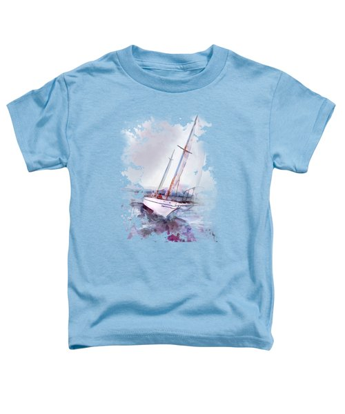 Setting Sail At Daybreak Watercolor Splash Toddler T-Shirt