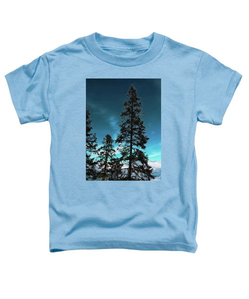 Silhouette Of Tall Conifers In Autumn Toddler T-Shirt