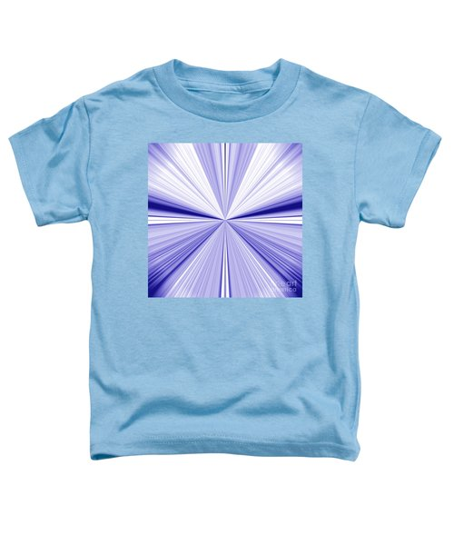 Starburst Light Beams In Blue And White Abstract Design - Plb455 Toddler T-Shirt