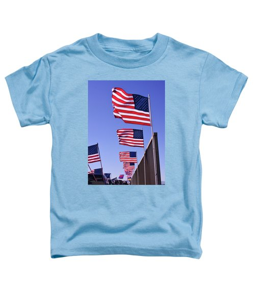 U.s. Flags, Presidents Day, Central Valley, California Toddler T-Shirt