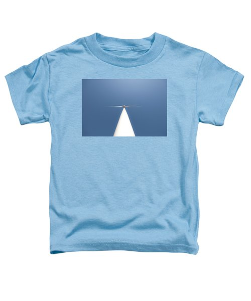 Toddler T-Shirt featuring the photograph White On Blue by Carl Young