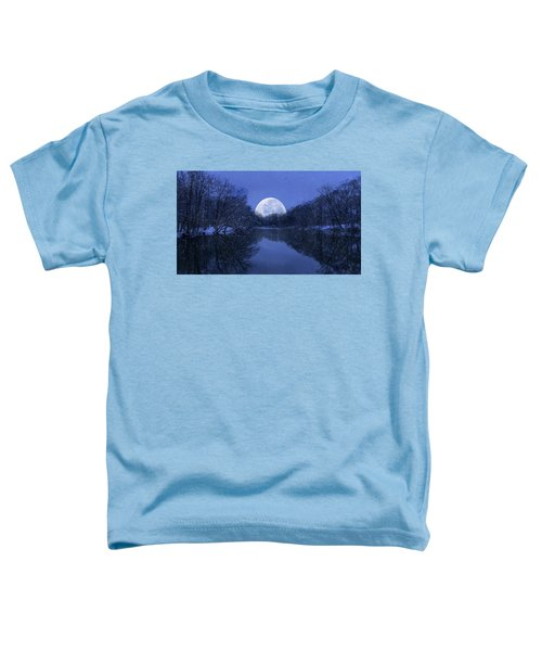 Winter Night On The Pond Toddler T-Shirt