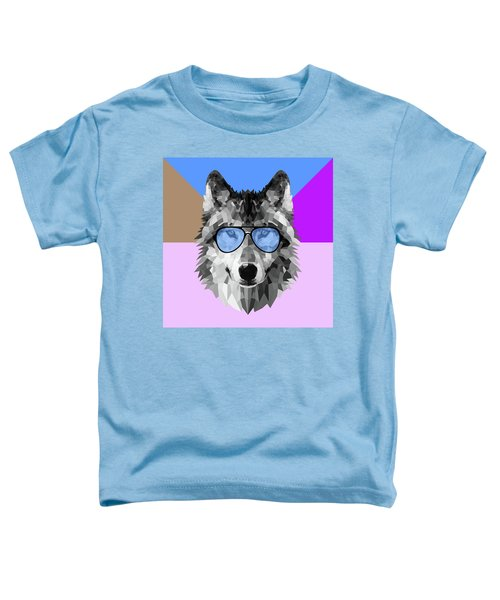 Woolf In Blue Glasses Toddler T-Shirt