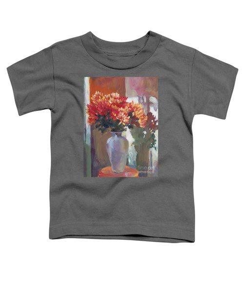 Chrysanthemums In Vase Toddler T-Shirt