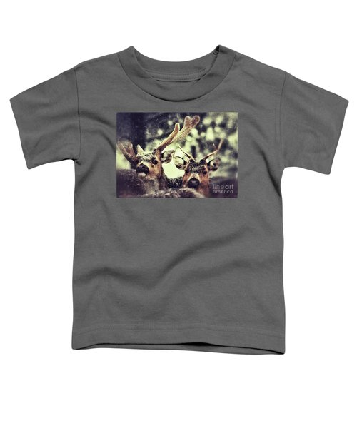 Deer In The Snow Toddler T-Shirt