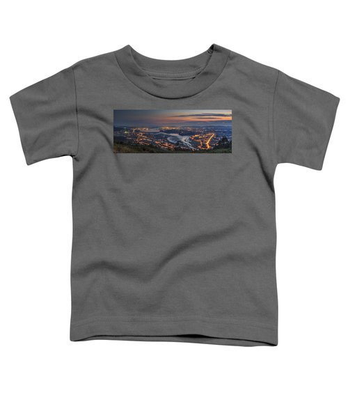 Ferrol's Ria Panorama From Mount Ancos Galicia Spain Toddler T-Shirt