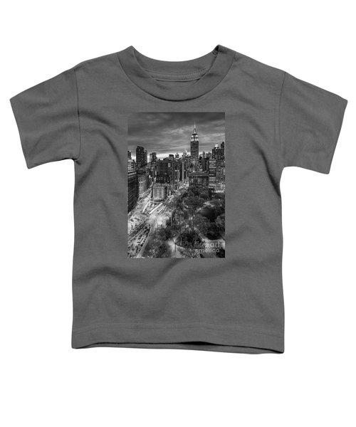 Flatiron District Birds Eye View Toddler T-Shirt by Susan Candelario