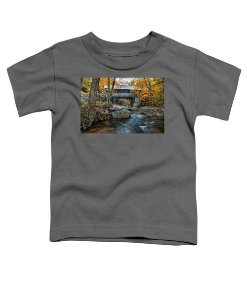 Flume Gorge Covered Bridge Toddler T-Shirt