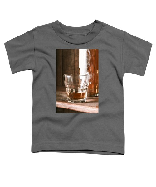 Glass Of Southern Scotch Whiskey On Wooden Table Toddler T-Shirt