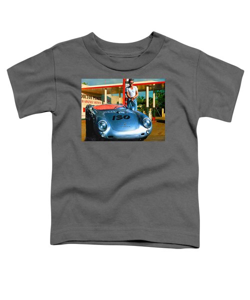 James Dean Filling His Spyder With Gas Toddler T-Shirt