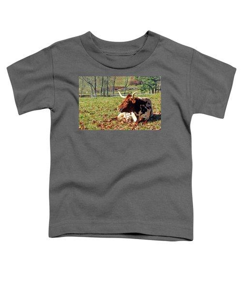 Lazy Morning Bull Toddler T-Shirt