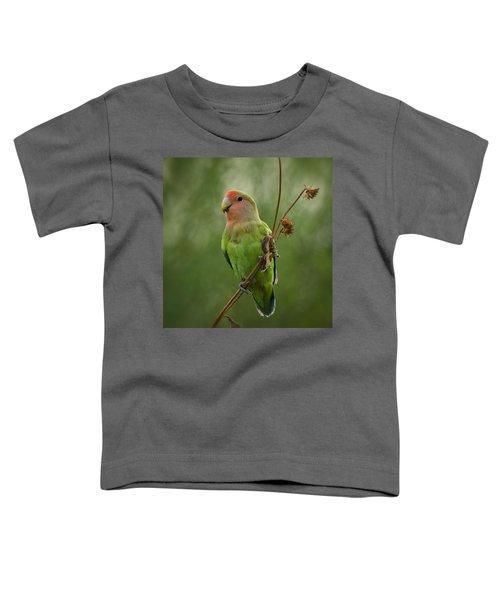 Lovely Little Lovebird  Toddler T-Shirt by Saija  Lehtonen