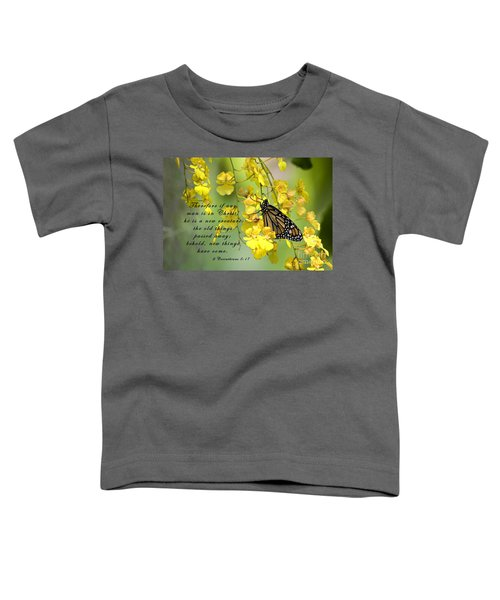 Monarch Butterfly With Scripture Toddler T-Shirt
