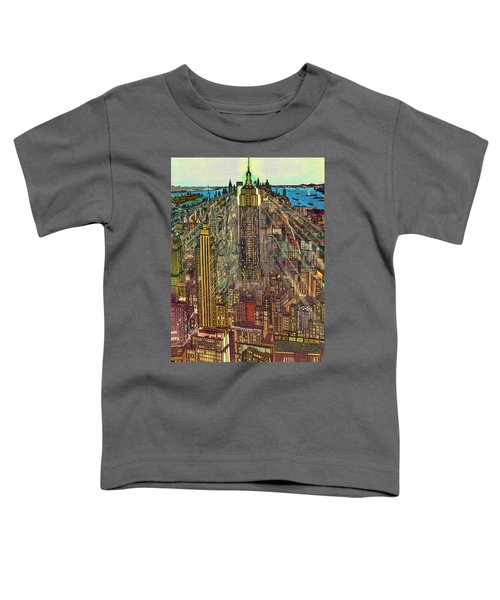 New York Mid Manhattan 1971 Toddler T-Shirt