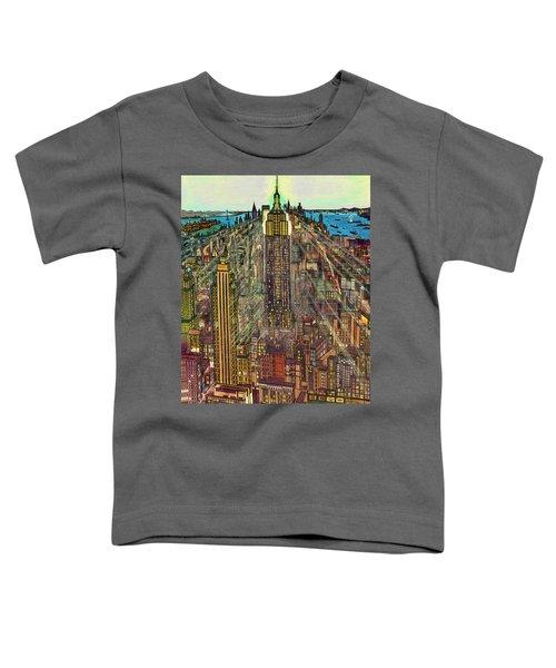 New York Mid Manhattan 1971 Toddler T-Shirt
