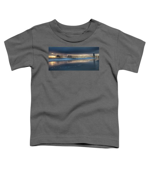 Approaching Storm Huntington Beach Pier Toddler T-Shirt